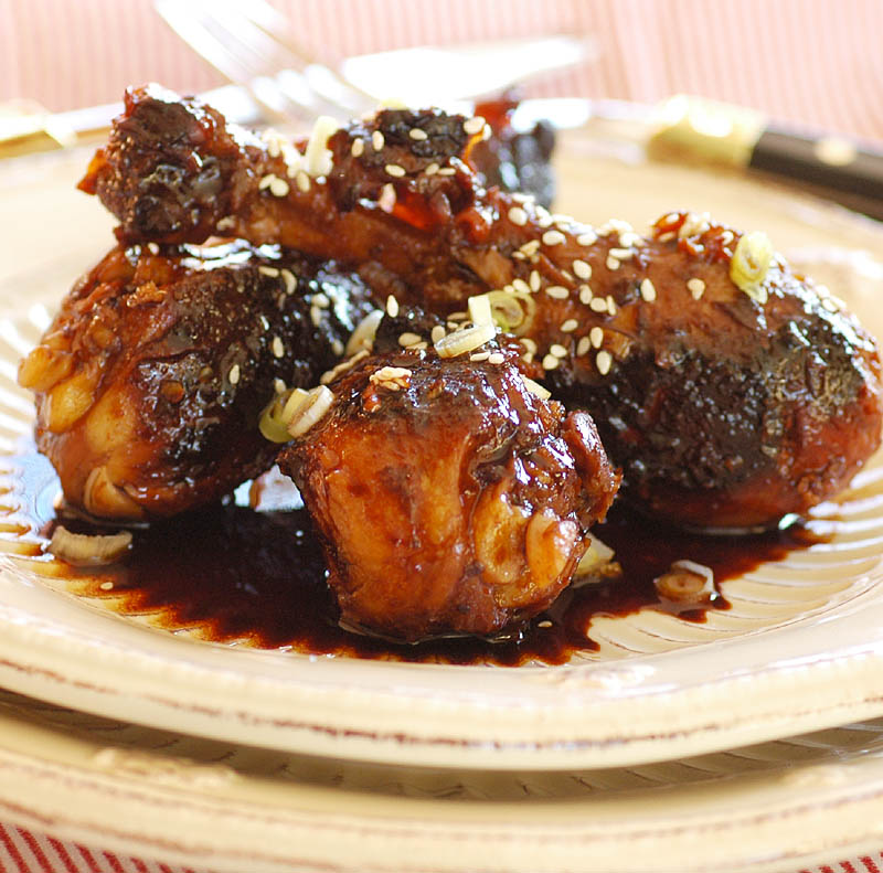 Adapted from Asian Glazed Drumsticks at Skinnytaste