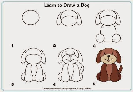 Learn to draw  a dog for kids