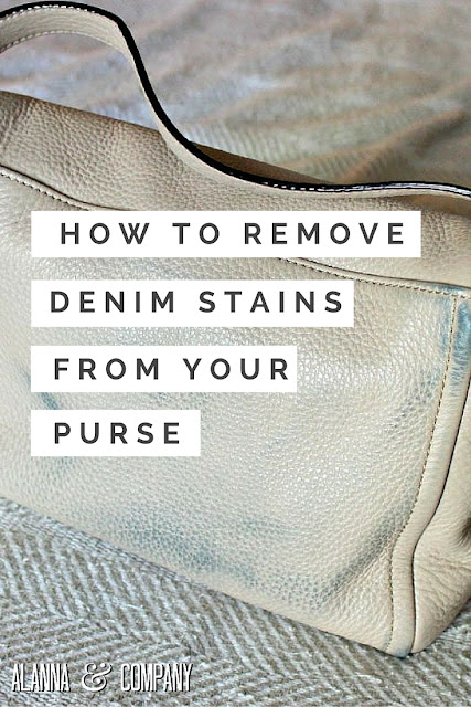 Removing Denim Stains from Purse