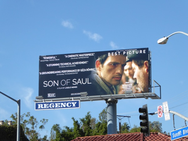 Son of Saul movie billboard