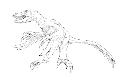 Realistic Velociraptor Dinosaur Coloring Pages
