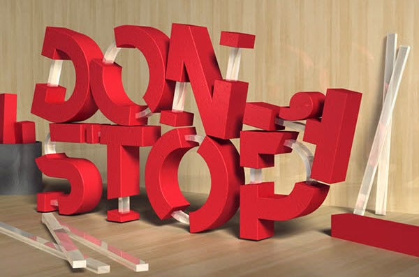 3D Rubber and Glass Text in Photoshop CS6