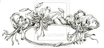 free design tiger lily flower tattoo