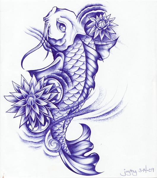 Tatuaes de pez koi completisimo fotos de tatuajes for Imagenes de peces chinos