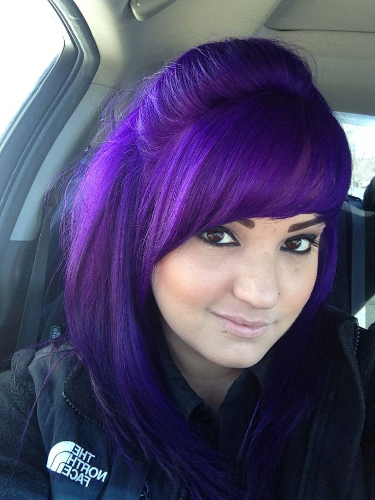 48 Irresistibly Beautiful Purple Hair Color Styles Hairstylo