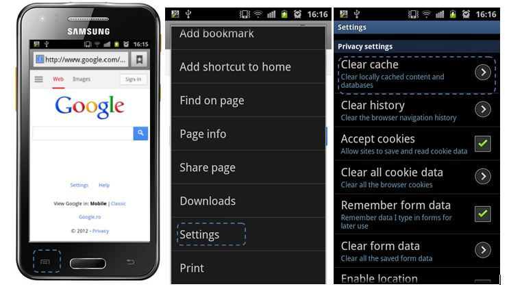 how to clear internet cache iphone4