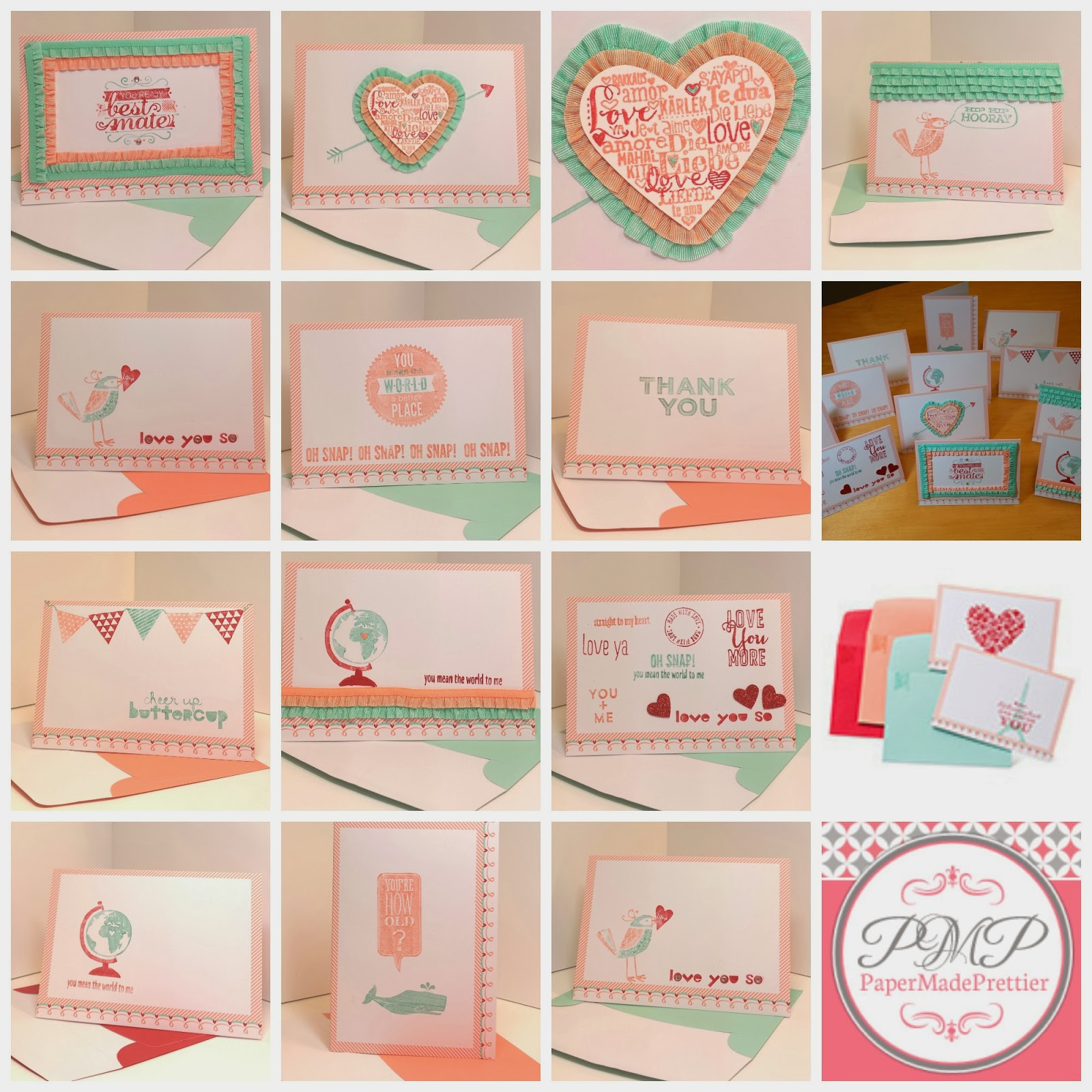 papermadeprettier Stampin Up Sweet Sayings notecards quick and – Valentine Note Cards