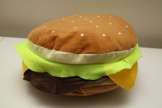 coussin hamburger fast food
