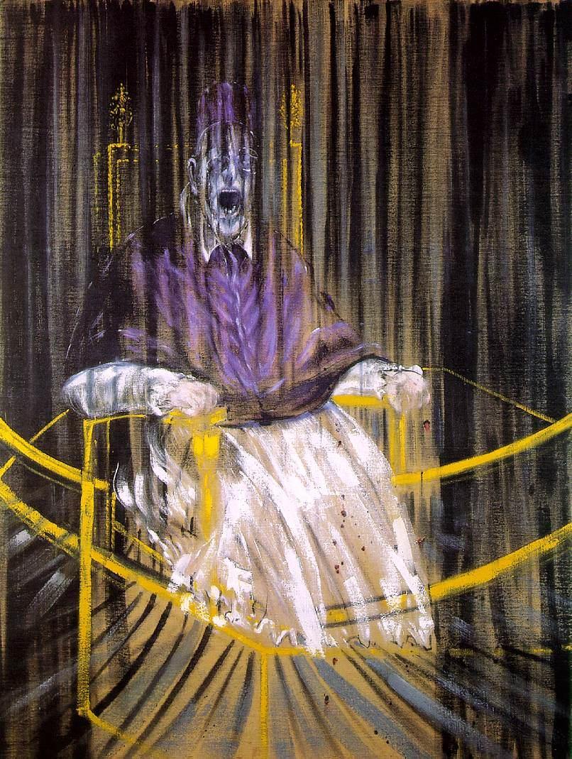 Francis Bacon. Estudio del retrato del papa  Inocencio X de Velázquez, 1953