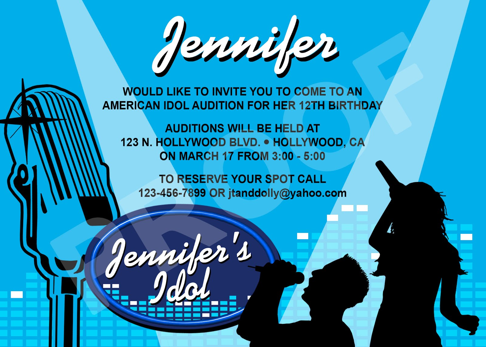 Paper Perfection: American Idol Invitation