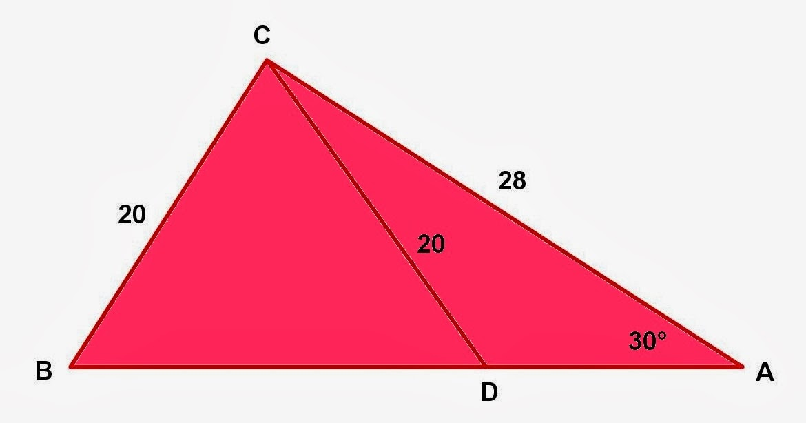 triangle math problems Many problems involving similar triangle have one triangle on top of (overlapping) the other in this diagram, it is indicated that  since ∠ a is congruent to ∠ bde (corresponding ∠s from the || lines), and ∠ b is shared by both triangles, we have similarity of the triangles by aa.