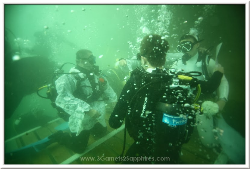 Guinness World Record holder for the largest underwater wedding