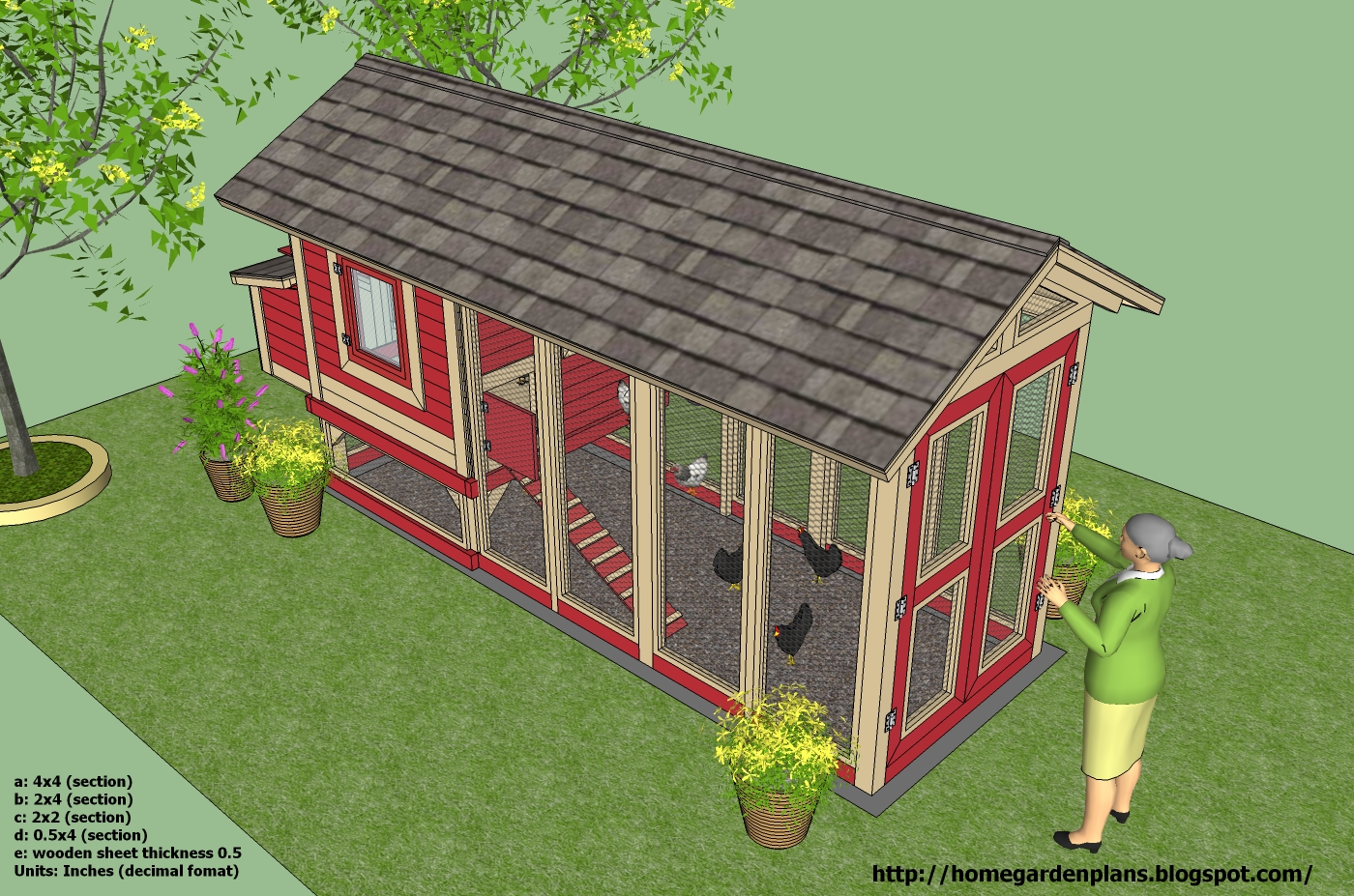 Home garden plans m102 chicken coop plans how to for Plans chicken coop