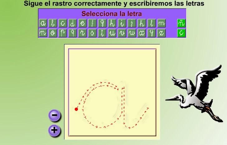 TRAZO DE LETRAS (Otro juego para trabjar la direccionalidad).