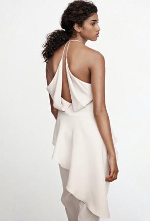 H&M Conscious Exclusive vestido blanco