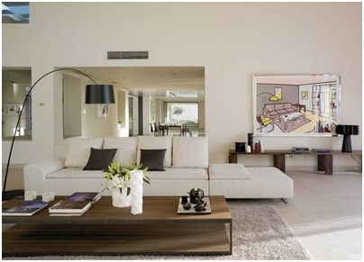 Contemporary and elegant living and dining room