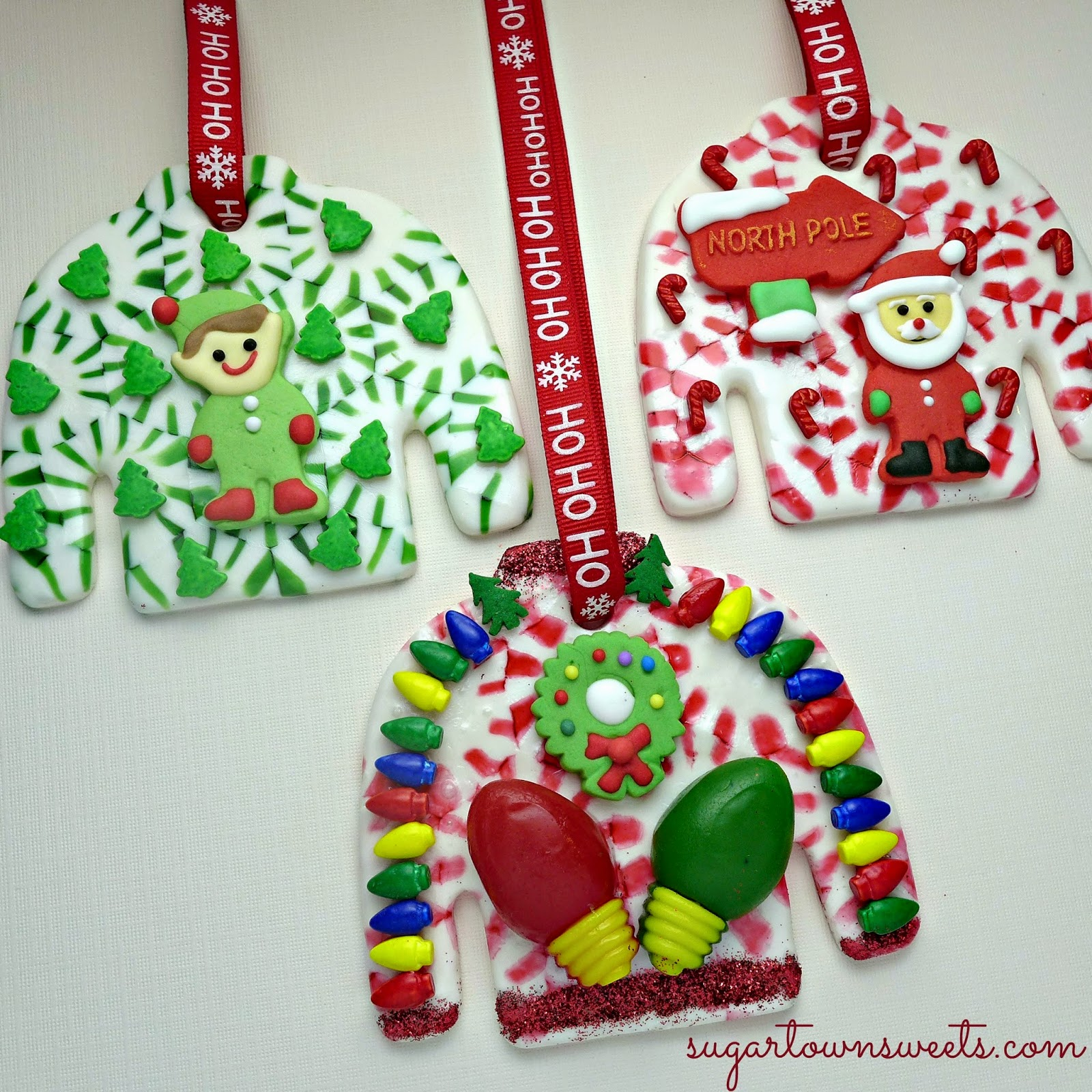 Sugartown Sweets: Ugly Christmas Sweater Ornaments Using Melted ...