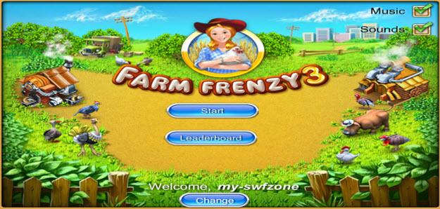 my swf zone, farm frenzy 3, flashgame