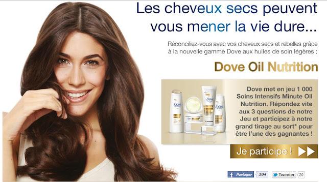 Tentez de gagner 1 des 1000 Soins Intensifs Minute Dove Oil Nutrition