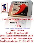 Usaha Sepakat Resources ;Exclusive Distributor; untuk kedai herba ; belian OnLine; Nu-Prep 100.USR