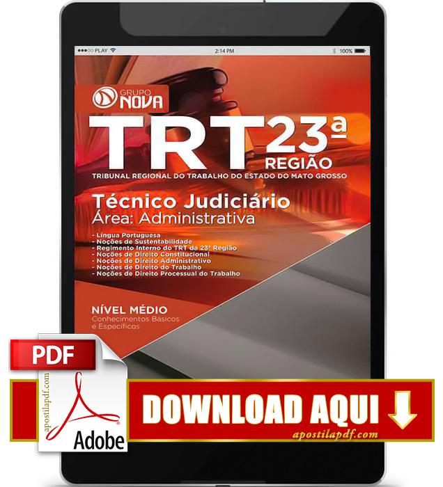 Apostila TRT MT 2015 PDF Download Técnico Judiciário