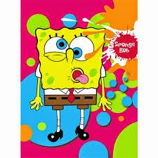 Grosir Selimut Rosanna Soft Panel Blanket Spongebob