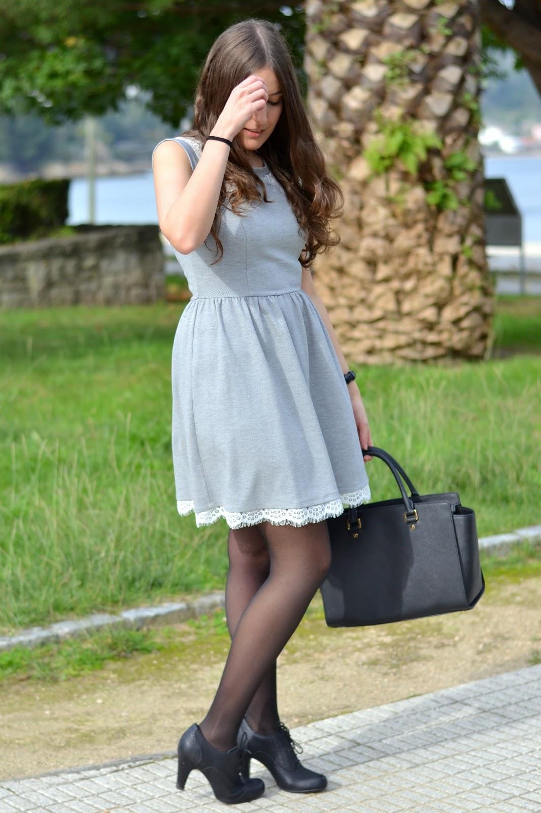 lucloset, dress, lace details