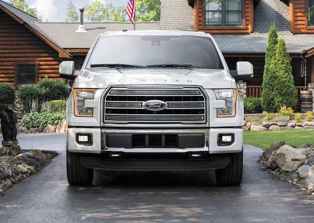 2015 Ford F-150 Limited white front