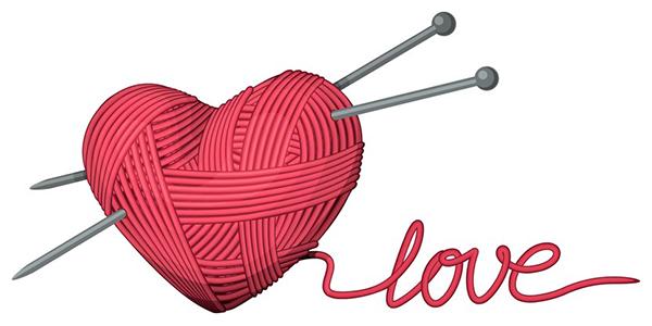Knitting Emoji Copy : Knit with love symbols emoticons