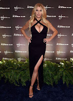 hot model Charlotte McKinney sexy cleavage in bold cut-out gown at Encore Player's Club Grand Opening in Las Vegas