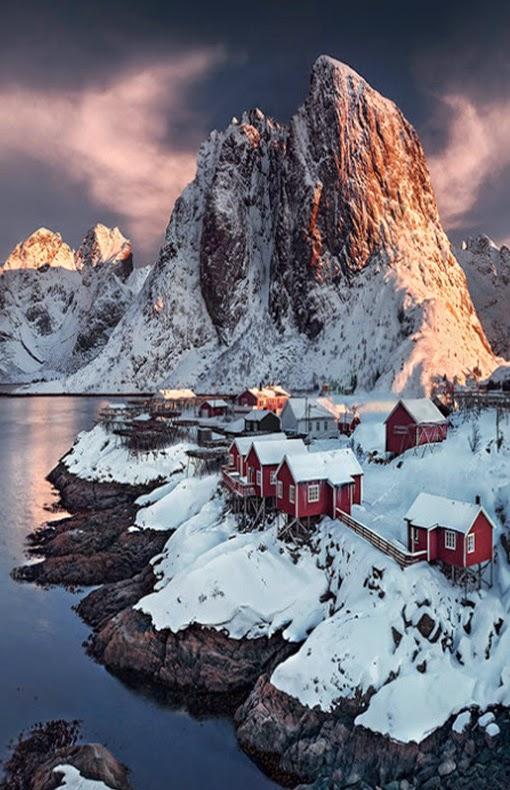 Sunset, Lofoten, Norway