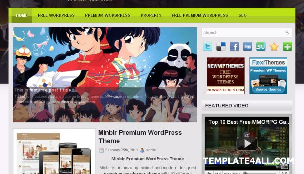 Online Anime Manga Wordpress Theme