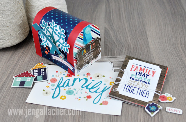 Family Mailbox Paper Craft by Jen Gallacher at http://jengallacher.blogspot.com/2015/08/make-it-meaningful-family-mailbox-paper.html