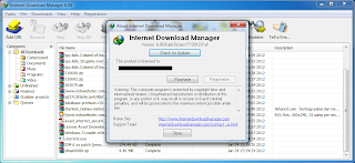 Picture showing Registered IDM 6.08 Beta Build 8