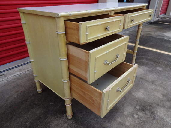 Vintage Thomasville Faux Bamboo Desk