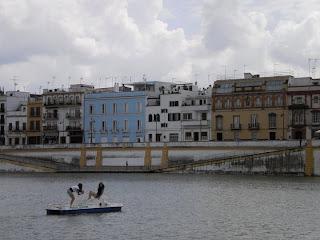 sevilla, river, puente isabell II
