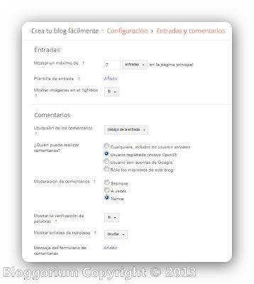 ¿Como configuro mi blog en Blogger?