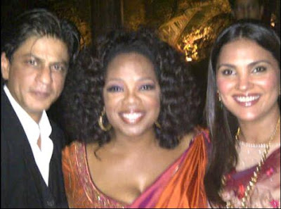 photos of oprah winfrey in india with shahrukh khan and lara dutta