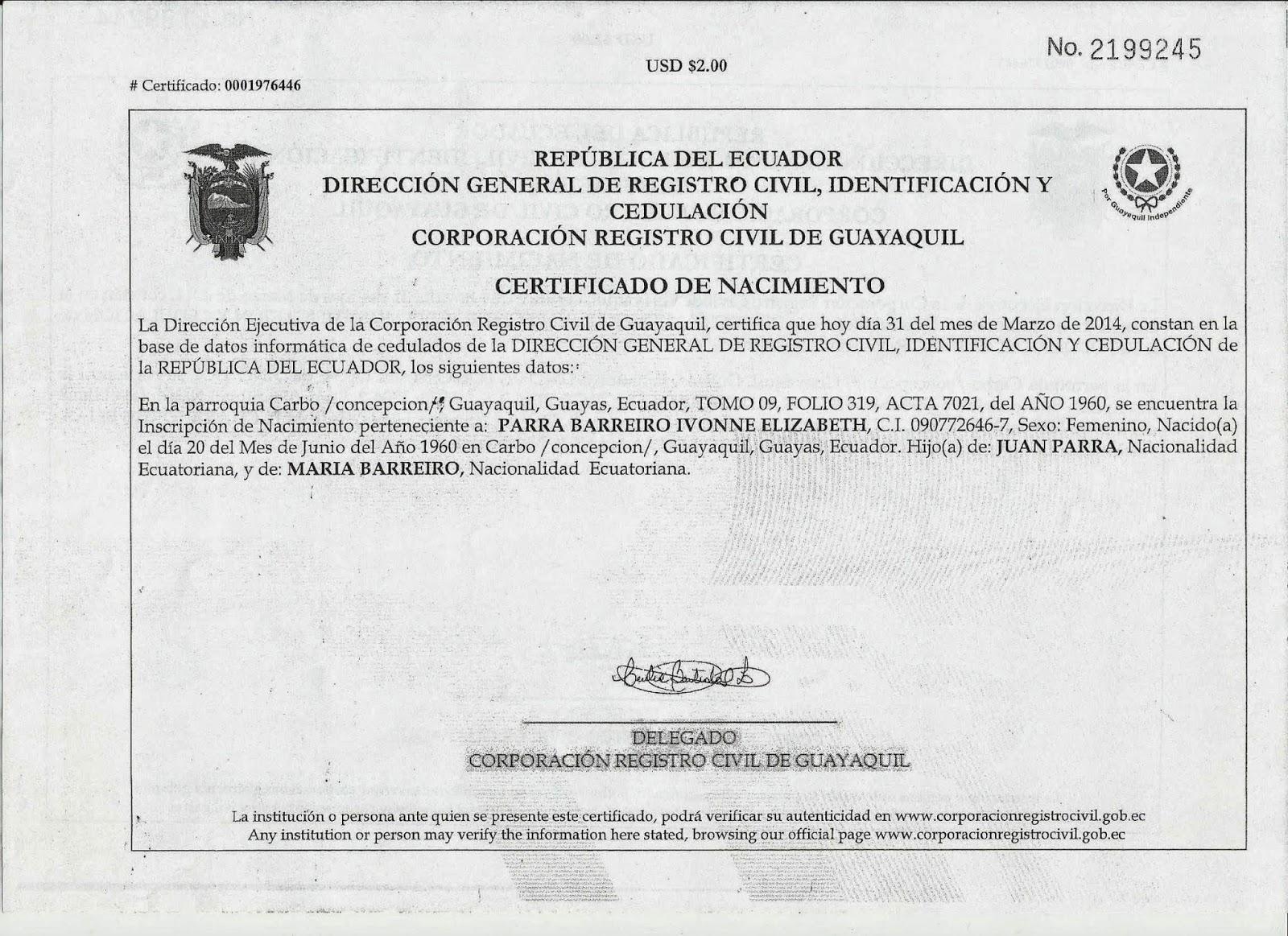 Dorable La Obtención De Un Certificado De Nacimiento En Missouri ...