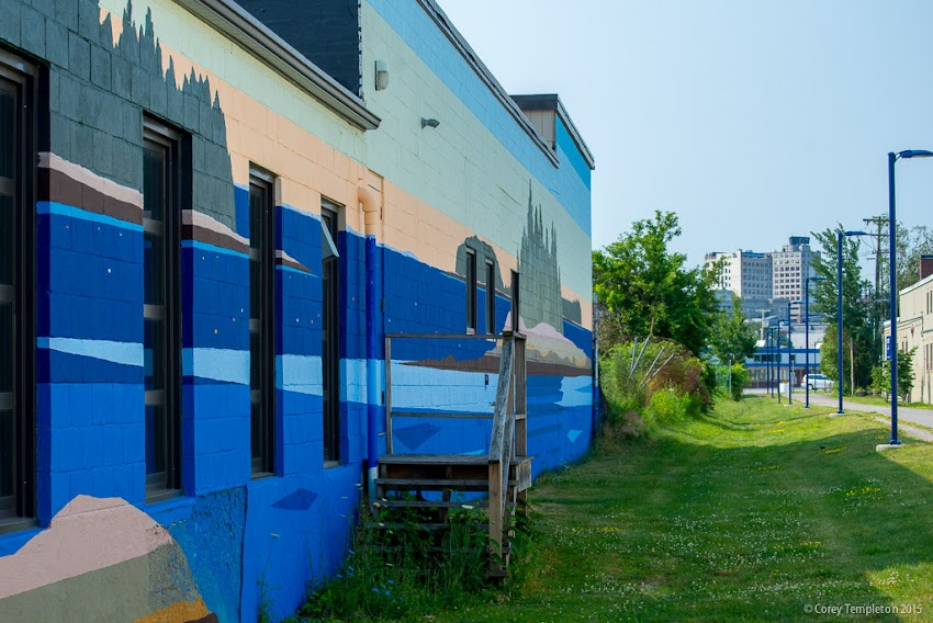 July 2015 Portland, Maine Bayside Trail Portland Mural Initiative art by Greta Van Campen. Photo by Corey Templeton.