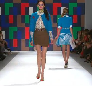 milly+blues+and+browns Mary Hall: New York Fashion Week: Milly by Michelles Modern Look at Spring/Summer 2012