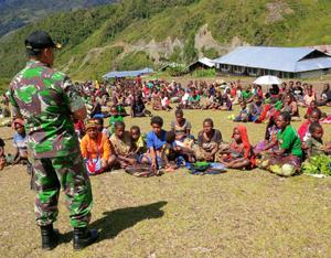Di Nduga Kodim 1702 Jwy Sosialisasi Pembangunan Jalan Wamena Mumugu Dharapos Papua