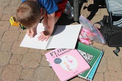 Activity Idea for Flora and the Flamingo by Molly Idle via www.happybirthdayauthor.com