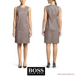 Queen Letizia Style HUGO BOSS Dress and ADOLFO DOMINGUEZ Sandals