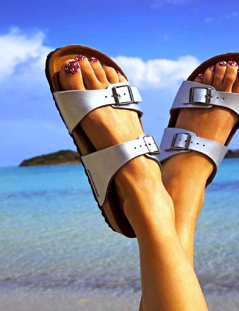 BIRKENSTOCK, birken sandálias branca