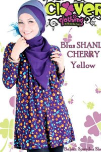 Clover Clothing Blus Shania Cherry - Yellow (Toko Jilbab dan Busana Muslimah Terbaru)