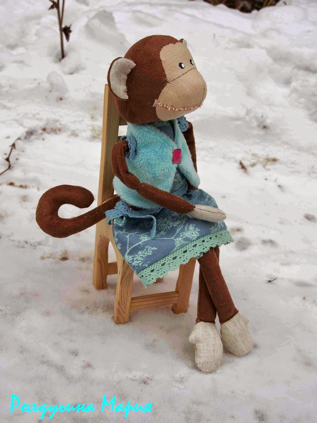 обезьянка ручной работы