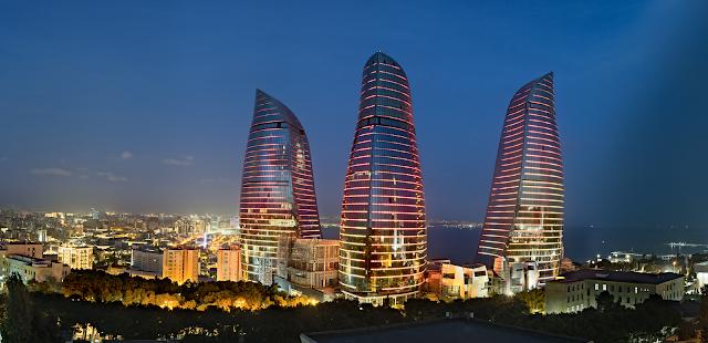Flame Towers - Sede de la Copa del Mundo de Ajedrez 2015