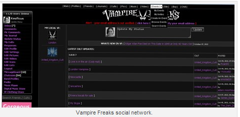 7 Niche Social Networks for Strategic Networking - VampireFreaks