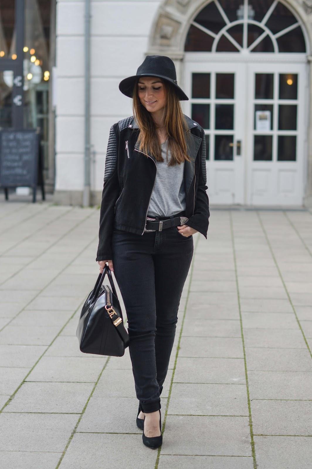 Givenchy Tasche - Streetstyle -Kendall Jenner - Skynnie Jeans - Lederjacke - Fashionstylebyjohanna